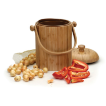 3 liter Compost Pail-bamboo or stainless